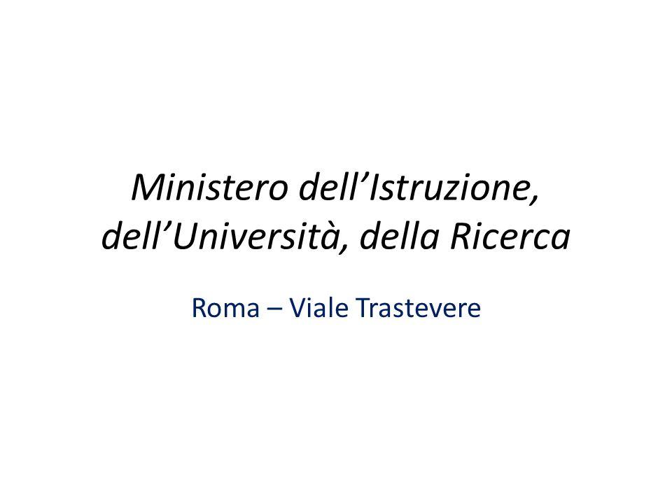 Ministero dell'Istruzione, dell'Università, della Ricerca Roma – Viale Trastevere