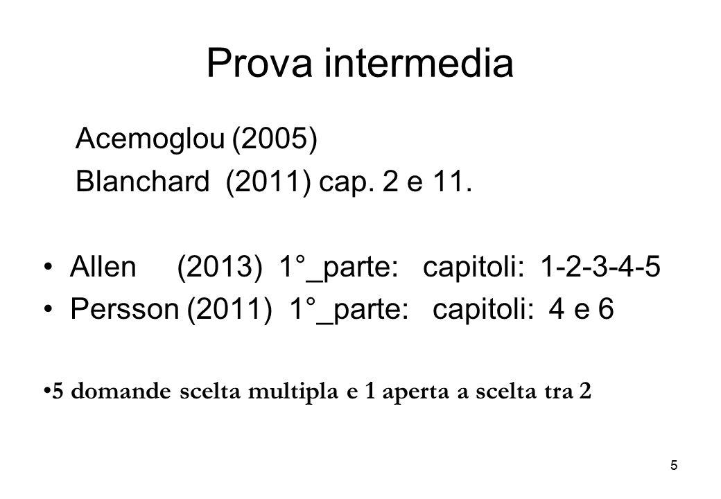 Organizzazione analitica dei testi: PERSSON (domanda) mercato e TFP ALLEN (offerta) modello macroeconomico di produzione (due fattori: lavoro e capitale) 16