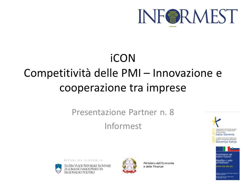 1 iCON Competitività delle PMI – Innovazione e cooperazione tra imprese Presentazione Partner n.