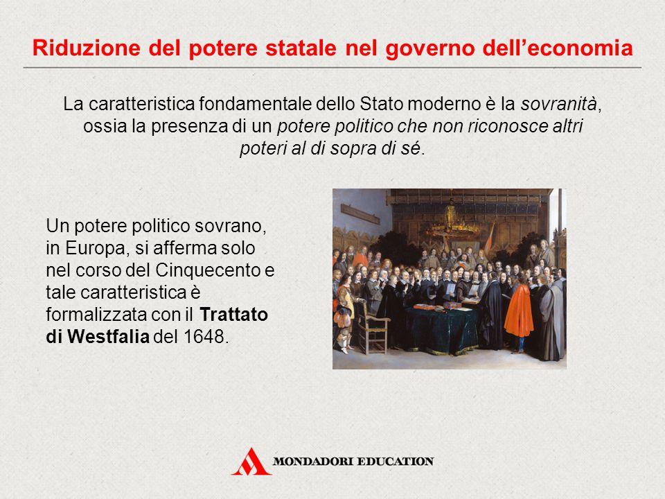 La caratteristica fondamentale dello Stato moderno è la sovranità, ossia la presenza di un potere politico che non riconosce altri poteri al di sopra di sé.