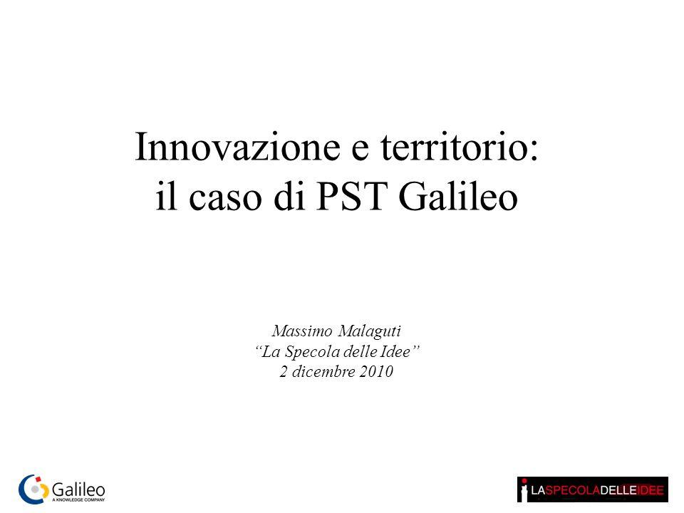 Innovazione e territorio: il caso di PST Galileo Massimo Malaguti La Specola delle Idee 2 dicembre 2010