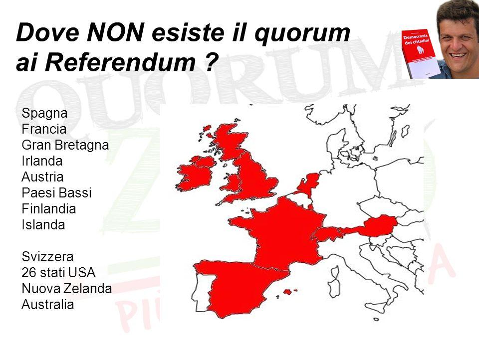 Quanto è il quorum in Italia .a livello nazionale: Ref.