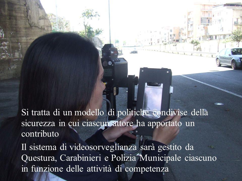 Si tratta di un modello di politiche condivise della sicurezza in cui ciascun attore ha apportato un contributo Il sistema di videosorveglianza sarà g