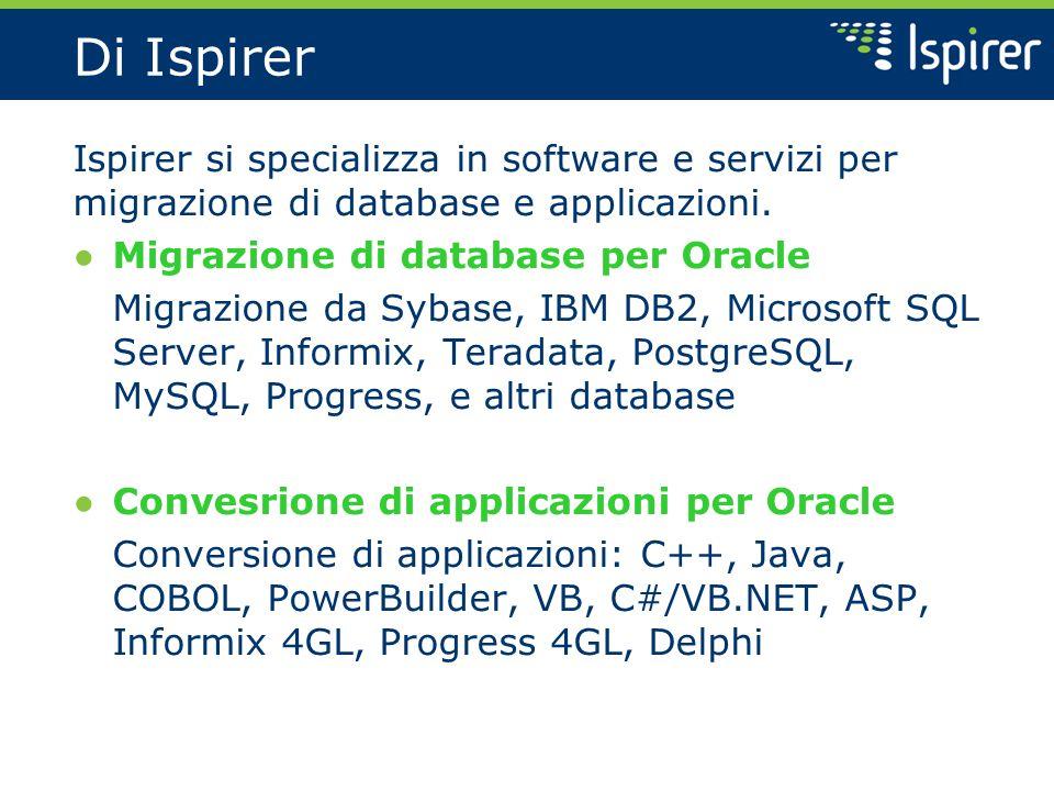 Di Ispirer Ispirer si specializza in software e servizi per migrazione di database e applicazioni.