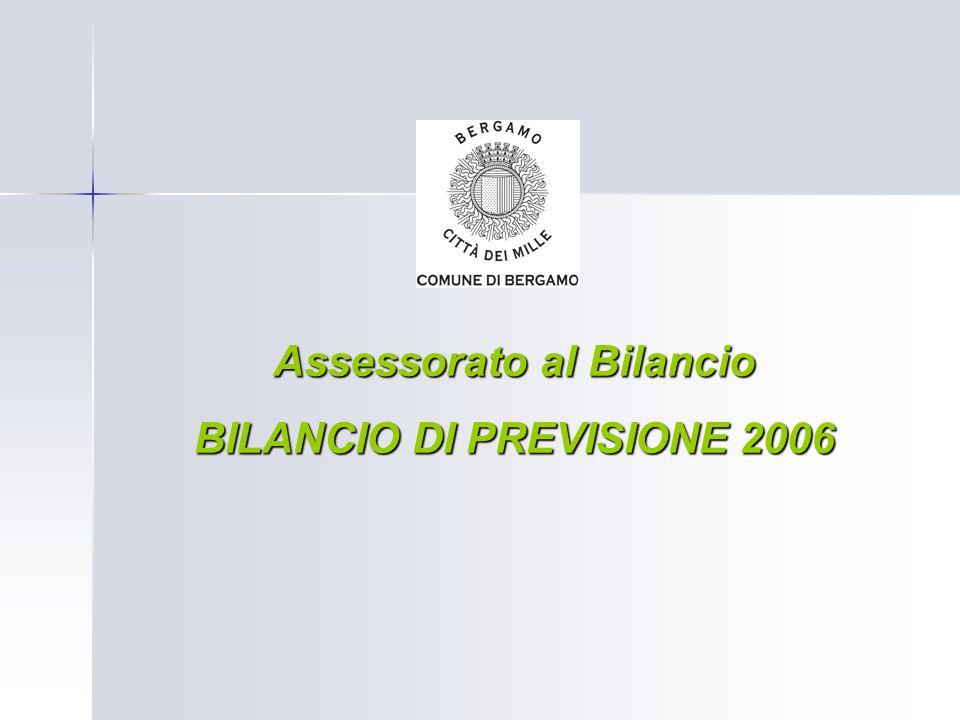 Assessorato al Bilancio BILANCIO DI PREVISIONE 2006