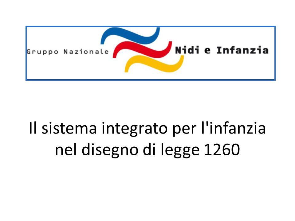 Il sistema integrato per l'infanzia nel disegno di legge 1260