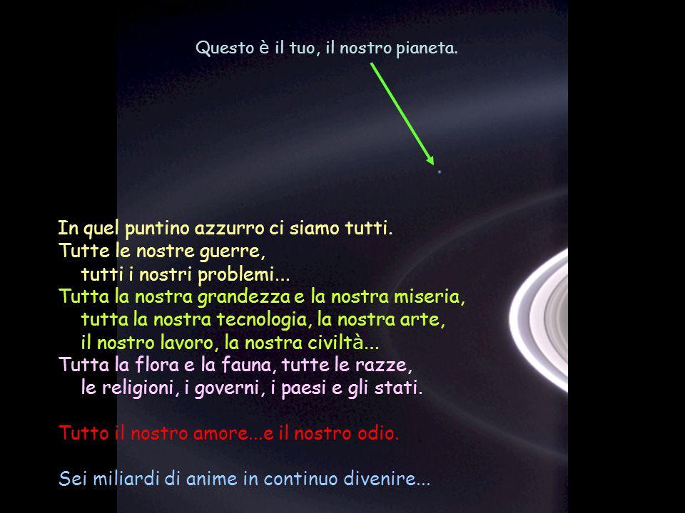 Héla aquí, pues: Contempla un momento questa foto. È stata scattata dalla sonda Cassini-Juygens, nel 2004, presso gli anelli di Saturno.