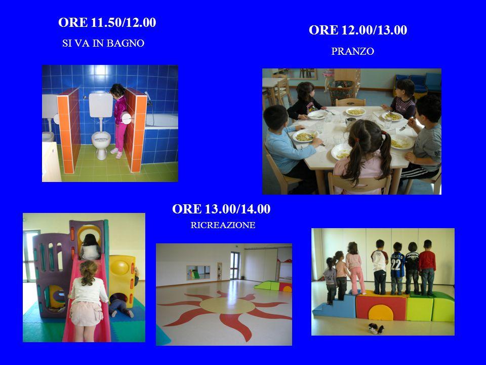 ORE 10/11.30 LAVORIAMO IN SEZIONE…. ORE 11.30/12.00 GIOCHIAMO E NEI LABORATORI