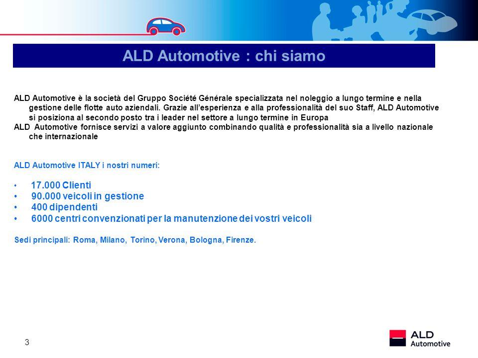 3 ALD Automotive è la società del Gruppo Société Générale specializzata nel noleggio a lungo termine e nella gestione delle flotte auto aziendali. Gra