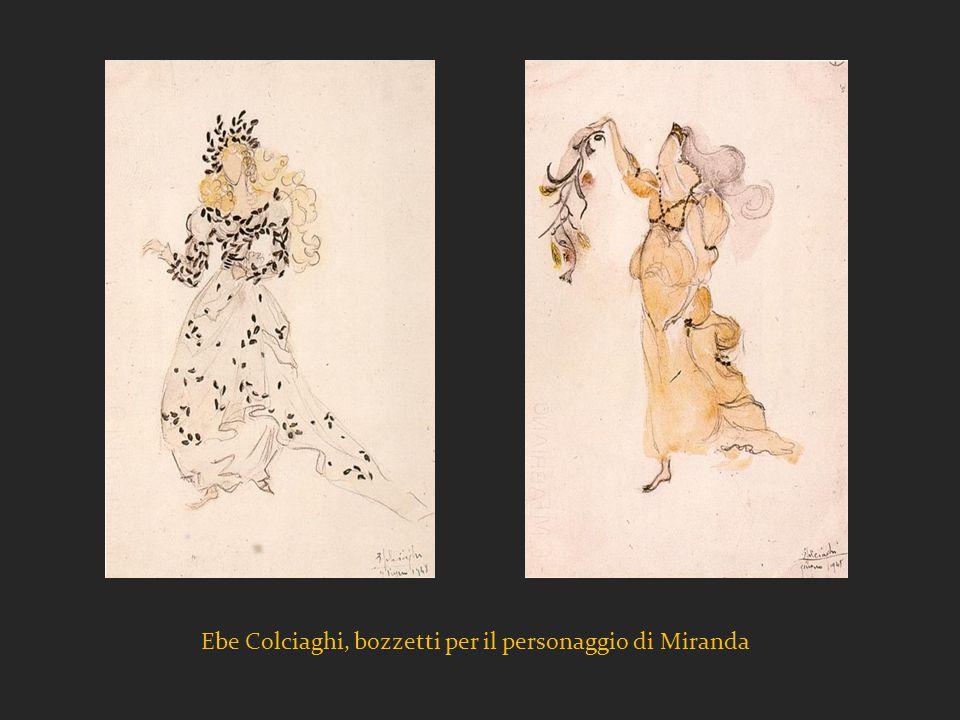 Ebe Colciaghi, bozzetti per il personaggio di Miranda