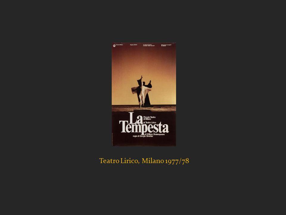 Teatro Lirico, Milano 1977/78