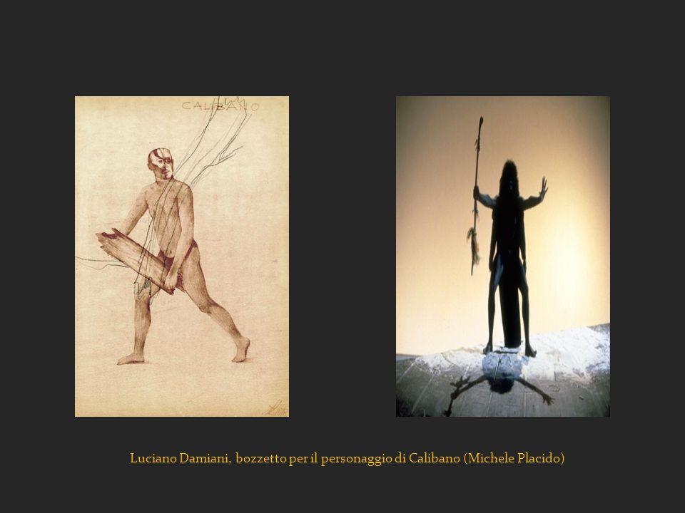 Luciano Damiani, bozzetto per il personaggio di Calibano (Michele Placido)