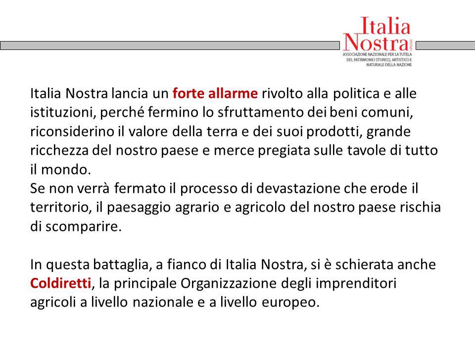 Italia Nostra lancia un forte allarme rivolto alla politica e alle istituzioni, perché fermino lo sfruttamento dei beni comuni, riconsiderino il valor