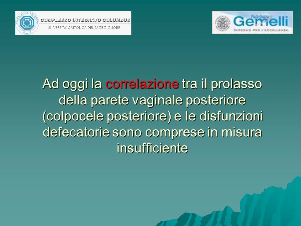NON ENTRIAMO NELLA DISCUSSIONE -SU QUALE SIA LA VIA MIGLIORE PER LA CORREZIONE DEL PROLASSO MUCOSO RETTALE ( stapled transanal rectal resection, STARR) lps ventral mesh rectopexy, perineal levatorplasty/posterior colporraphy) -E QUALE SIA QUELLA CHE HA IL MINOR RISCHIO DI COMPLICANZE