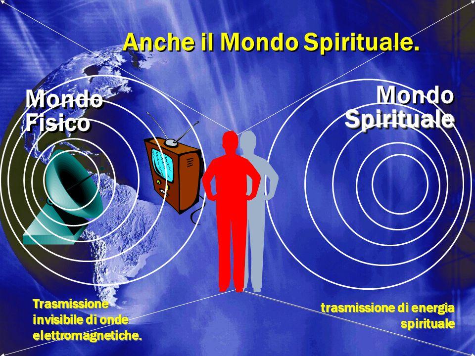 MondoSpirituale Spirituale Fisico Mondo Fisico Trasmissione invisibile di onde elettromagnetiche. trasmissione di energia spirituale Anche il Mondo Sp