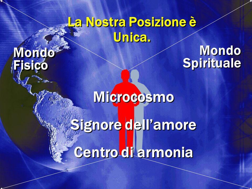 Mondo Spirituale Mondo Spirituale Mondo Fisico Mondo Fisico La Nostra Posizione è Unica. La Nostra Posizione è Unica. Microcosmo Signore dell'amore Ce