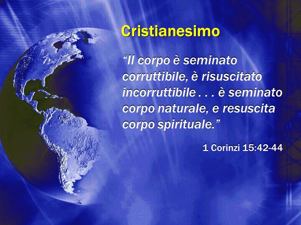 """Cristianesimo """"Il corpo è seminato corruttibile, è risuscitato incorruttibile... è seminato corpo naturale, e resuscita corpo spirituale."""" 1 Corinzi 1"""