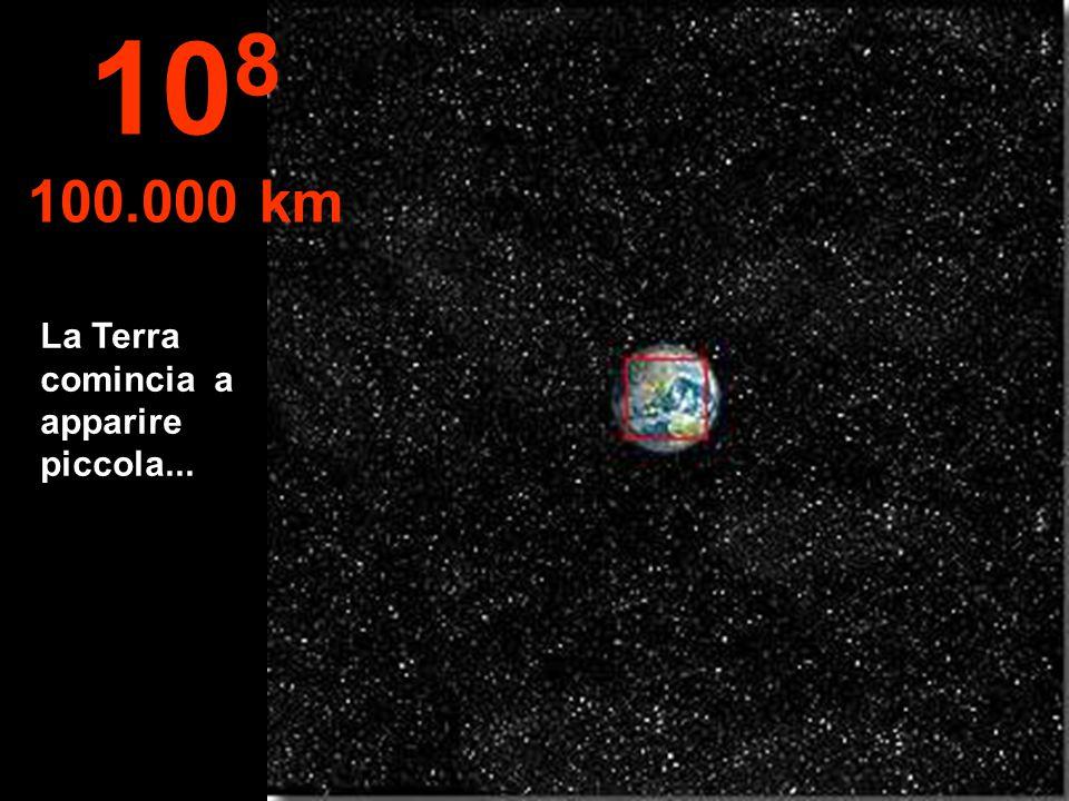 L'emisfero Nord della Terra, e si può vedere anche parte dell'emisfero Sud. 10 7 10.000 km