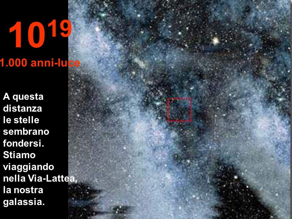 Nulla Solo stelle e nebulose 10 18 100 anni-luce