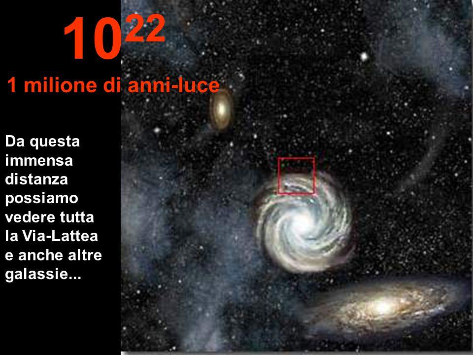 Ora arriviamo alla periferia della nostra Via-Lattea 10 21 100.000 anni-luce