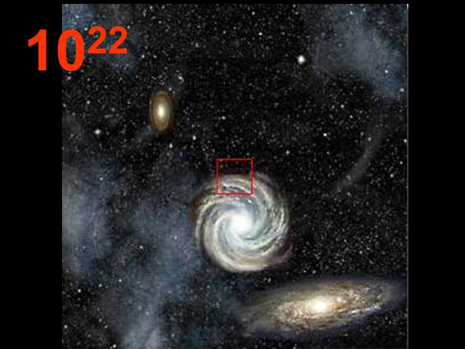 Da questa tremenda distanza dall'origine, le galassie sembrano piccoli agglomerati e, fra loro, immensi spazi vuoti .
