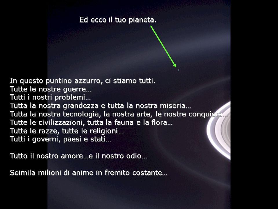 Héla aquí, pues: Contempla questa foto per qualche instante. È stata presa da Cassini-Juygens, Una nave spaziale automatica, nel 2004, quando raggiuns