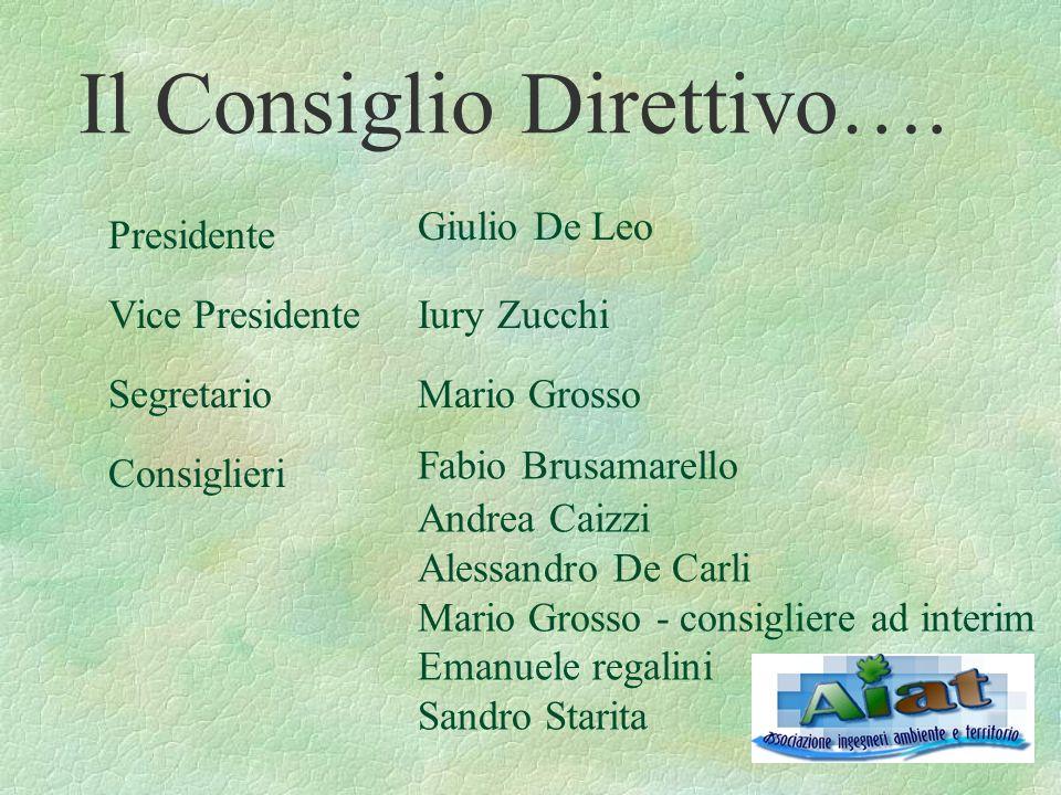Il Consiglio Direttivo….
