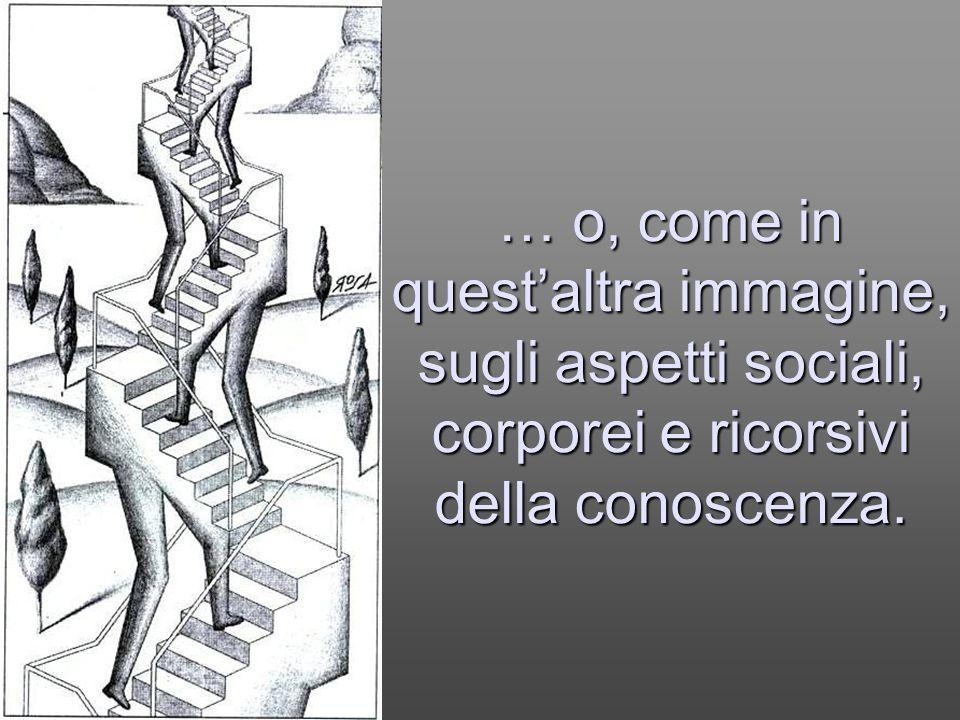 Per le strutture organiche della vita - e dunque anche della conoscenza - è stata proposta la metafora dei pennacchi … pennacchi