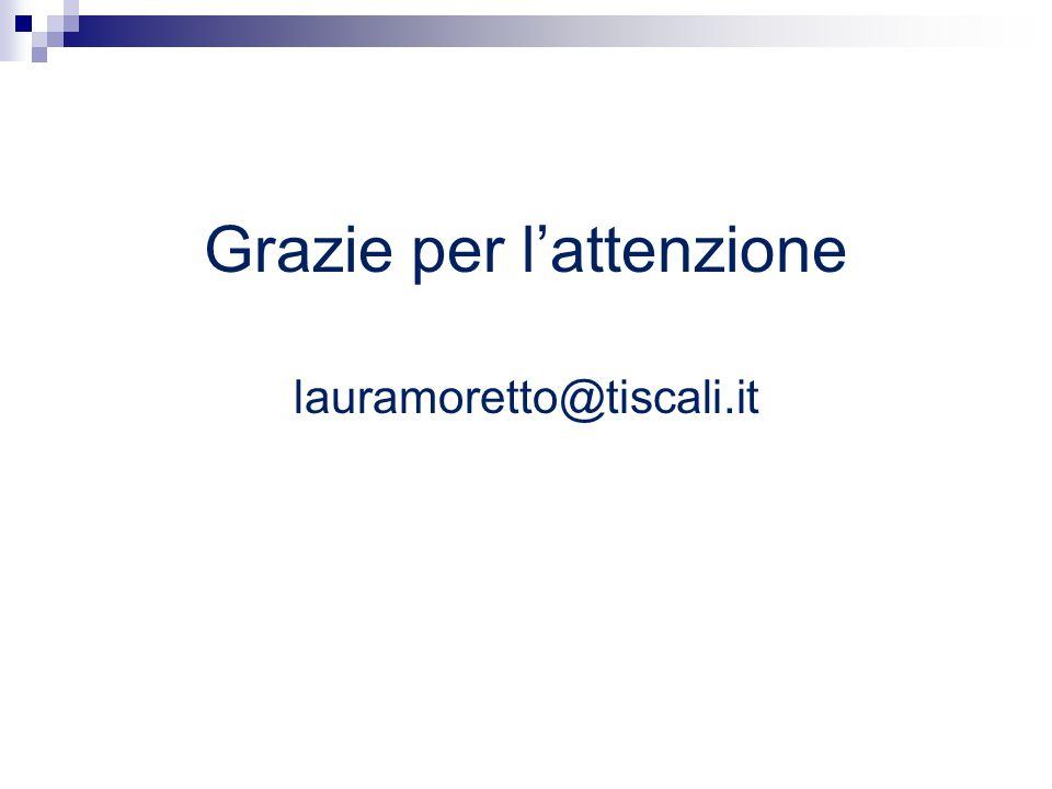 Grazie per l'attenzione lauramoretto@tiscali.it