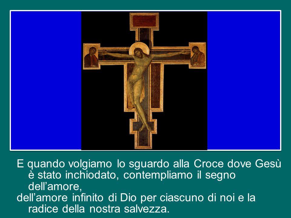 """Sul Calvario, quelli che lo deridevano gli dicevano: """"Se sei il Figlio di Dio, scendi dalla croce"""" (cfr Mt 27,40). Ma era vero il contrario: proprio p"""