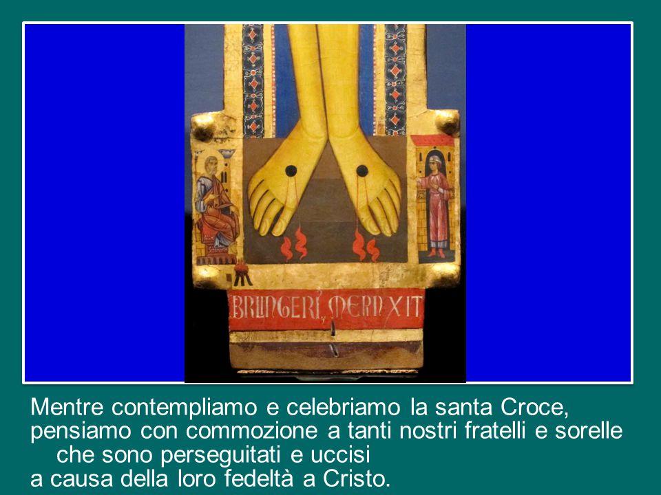 Cioè, noi non esaltiamo le croci, ma la Croce gloriosa di Gesù, segno dell'amore immenso di Dio, segno della nostra salvezza e cammino verso la Risurr