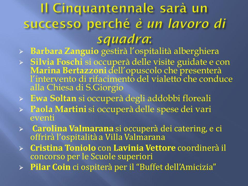  Barbara Zanguio gestirà l'ospitalità alberghiera  Silvia Foschi si occuperà delle visite guidate e con Marina Bertazzoni dell'opuscolo che presente