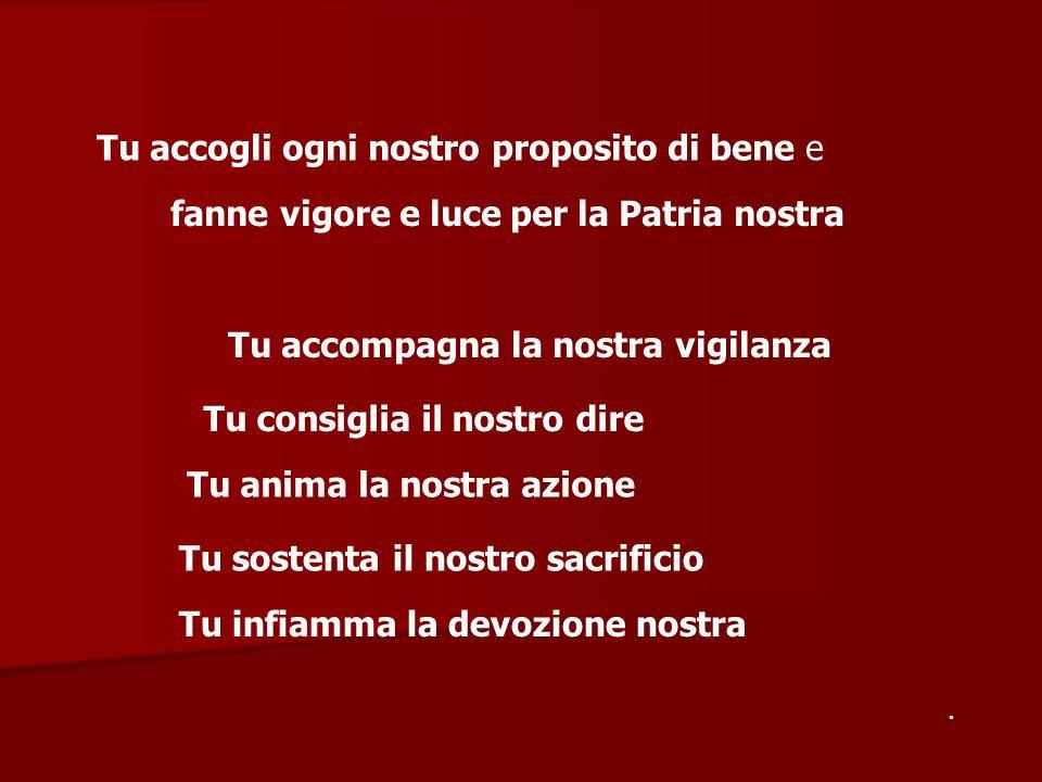 e da un capo all'altro d'Italia suscita in ognuno di noi l'entusiasmo di testimoniare con la fedeltà fino alla morte l'Amore a DIO e ai fratelli italiani AMEN.