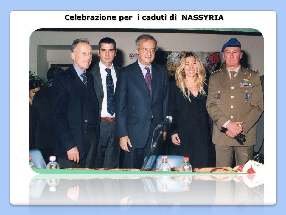 Celebrazione per i caduti di NASSYRIA