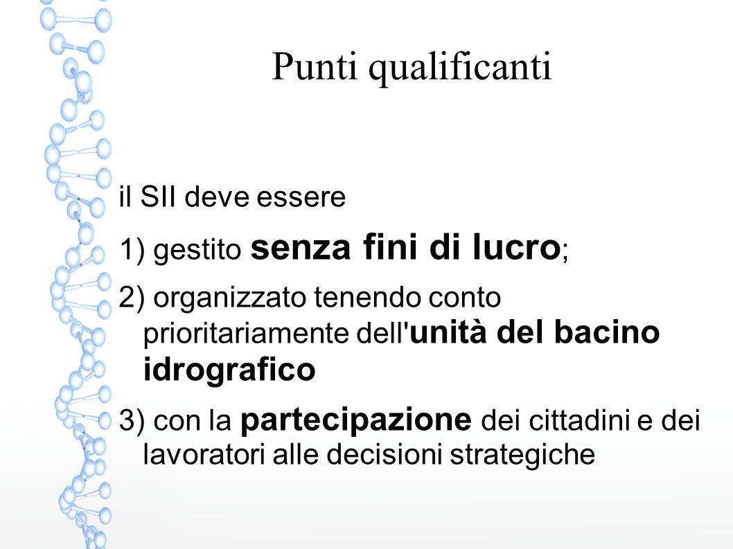 GESTORI DEL SII GENOVESE Gruppo Iren (controllate e collegate) 1) MEDITERRANEA DELLE ACQUE (MdA – 60% di Iren Acqua e Gas [IAG]) 2) IDRO-TIGULLIO (66,5% di MdA) 3) AMTER (49% di MdA) 4) ACQUE POTABILI SpA di Torino (30,86% IAG)