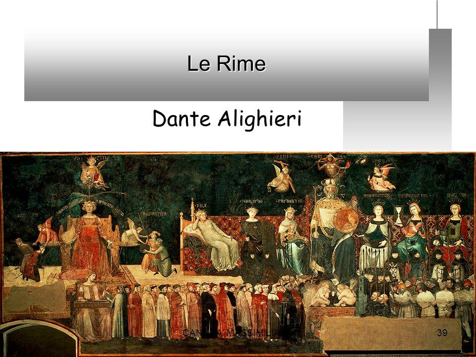 Le Rime Dante Alighieri 39CANANA' MASSIMILIANO