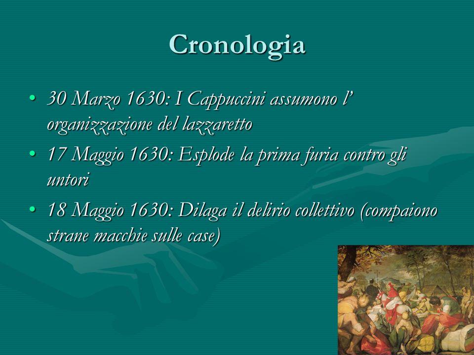 Cronologia 30 Marzo 1630: I Cappuccini assumono l' organizzazione del lazzaretto30 Marzo 1630: I Cappuccini assumono l' organizzazione del lazzaretto