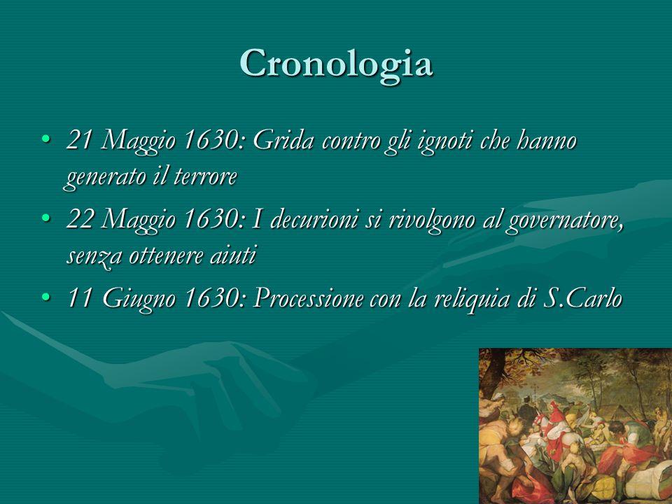 Cronologia 21 Maggio 1630: Grida contro gli ignoti che hanno generato il terrore21 Maggio 1630: Grida contro gli ignoti che hanno generato il terrore