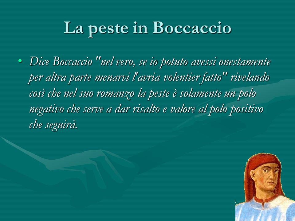 La peste in Boccaccio Dice Boccaccio