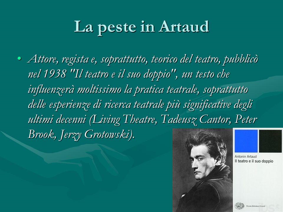 La peste in Artaud Attore, regista e, soprattutto, teorico del teatro, pubblicò nel 1938