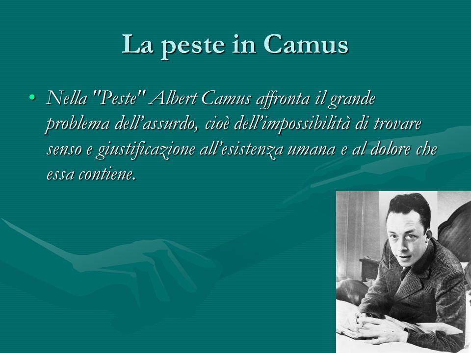 La peste in Camus Nella