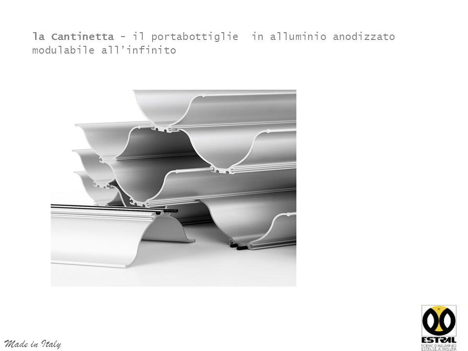 la Cantinetta - il portabottiglie in alluminio anodizzato modulabile all'infinito Made in Italy