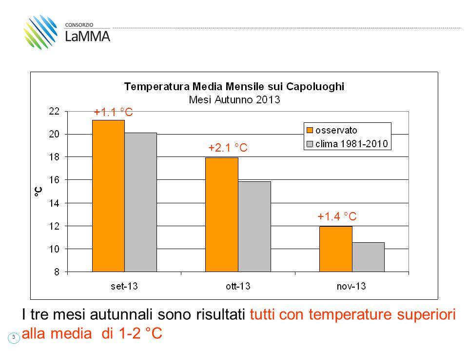 44 2003 L' Estate 2014 è risultata una delle più fresche degli ultimi 15 anni, pur con un mese di Giugno più caldo del normale