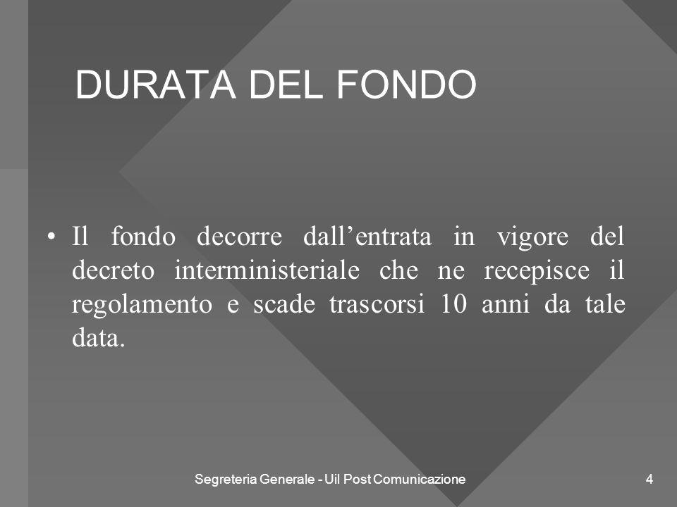 Segreteria Generale - Uil Post Comunicazione 5 L'ATTIVITA' DEL FONDO Eroga, nell'ambito delle sue finalità due tipi di prestazioni: ORDINARIE STRAORDINARIE