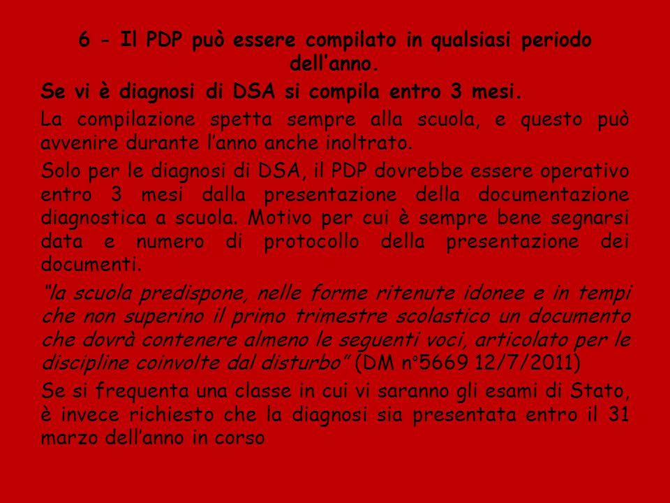7- Consenso Genitori: firmano PDP, ma non (ovviamente) per interventi didattici.