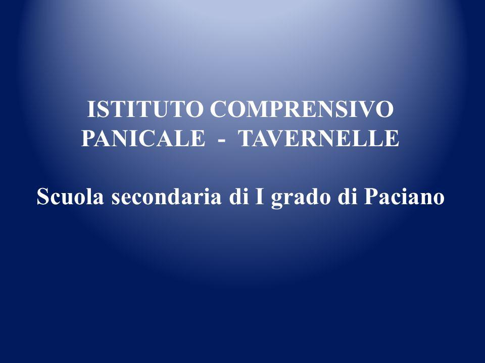 ISTITUTO COMPRENSIVO PANICALE - TAVERNELLE Scuola secondaria di I grado di Paciano