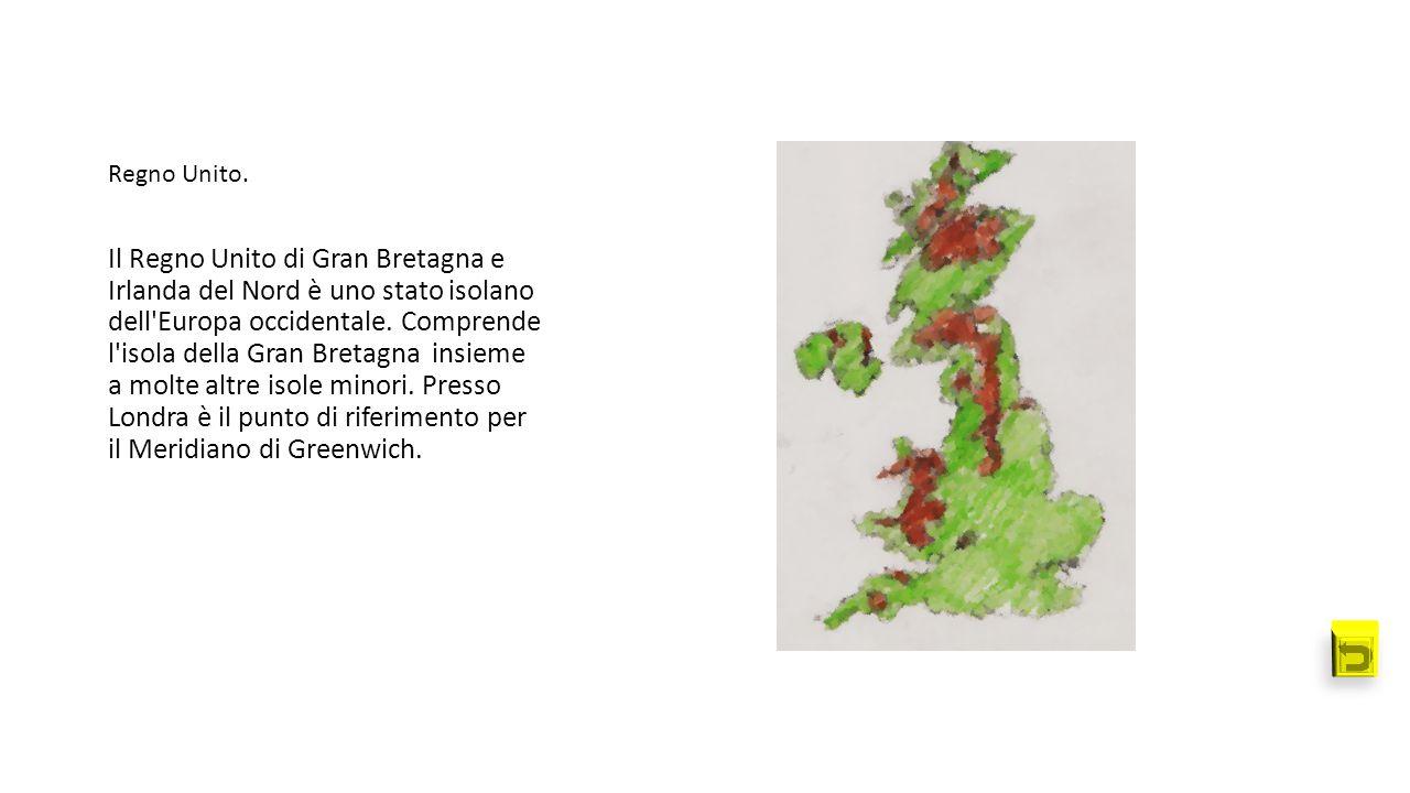 Il Regno Unito di Gran Bretagna e Irlanda del Nord è uno stato isolano dell'Europa occidentale. Comprende l'isola della Gran Bretagna insieme a molte