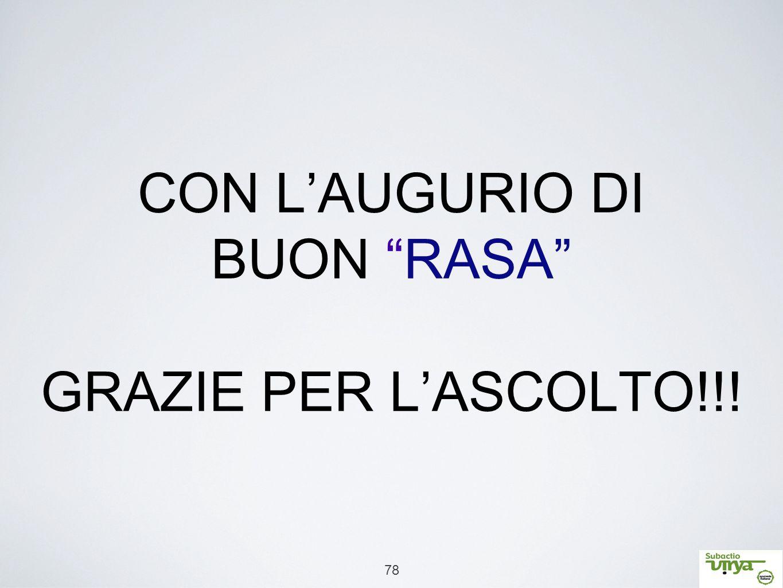 """78 CON L'AUGURIO DI BUON """"RASA"""" GRAZIE PER L'ASCOLTO!!!"""