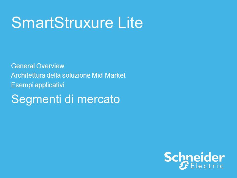 SmartStruxure Lite General Overview Architettura della soluzione Mid-Market Esempi applicativi Segmenti di mercato