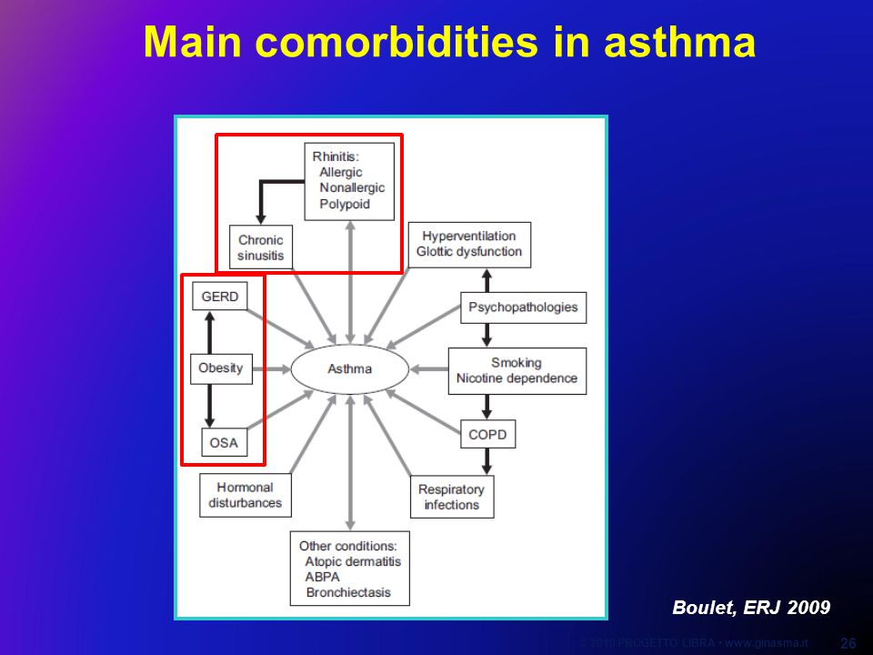 Boulet, ERJ 2009 Main comorbidities in asthma © 2010 PROGETTO LIBRA www.ginasma.it 26